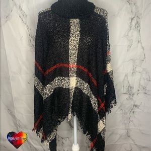 Burberry style poncho